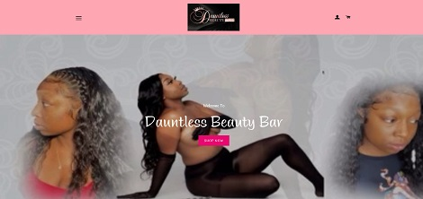 Dauntless Beauty Bar Website Project