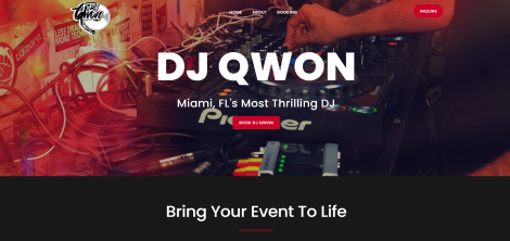 DJ Qwon Website Project