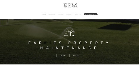 Earlies Property Maintenance Website Design Project